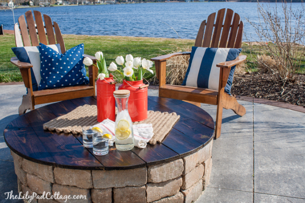 DIY Fireplace Ideas - DIY Firepit Table Top - Do It Yourself Firepit Projects and Fireplaces for Your Yard, Patio, Porch and Home. Outdoor Fire Pit Tutorials for Backyard with Easy Step by Step Tutorials - Cool DIY Projects for Men #diyideas #outdoors #diy