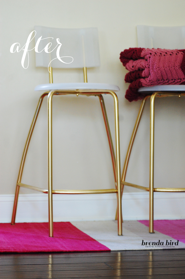 Best IKEA Hacks and DIY Hack Ideas for Furniture Projects and Home Decor from IKEA - DIY Glammed Up Gold Stools - Creative IKEA Hack Tutorials for DIY Platform Bed, Desk, Vanity, Dresser, Coffee Table, Storage and Kitchen, Bedroom and Bathroom Decor #ikeahacks #diy