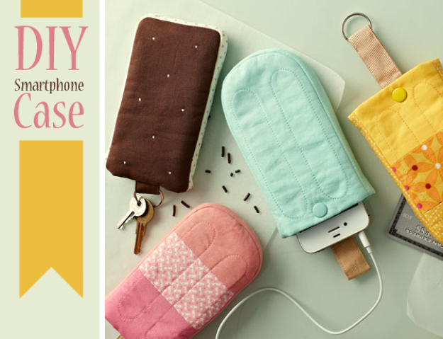 DIY Gifts To Sew For Friends - DIY Ice Pop Smartphone Case - Quick and Easy Sewing Projects and Free Patterns for Best Gift Ideas and Presents - Creative Step by Step Tutorials for Beginners - Cute Home Decor, Accessories, Kitchen Crafts and DIY Fashion Ideas #diy #crafts #sewing