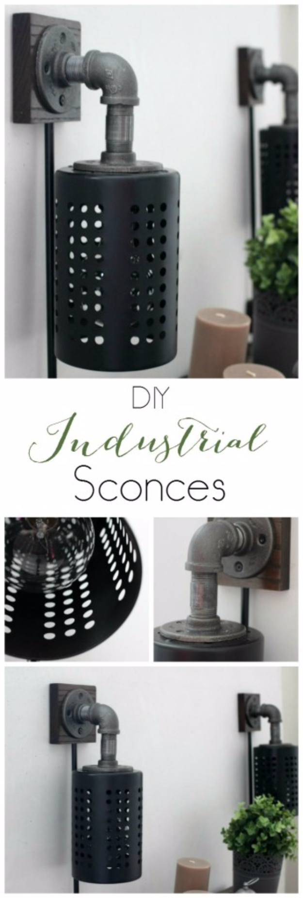 Best IKEA Hacks and DIY Hack Ideas for Furniture Projects and Home Decor from IKEA - DIY Industrial Sconces - Creative IKEA Hack Tutorials for DIY Platform Bed, Desk, Vanity, Dresser, Coffee Table, Storage and Kitchen, Bedroom and Bathroom Decor #ikeahacks #diy