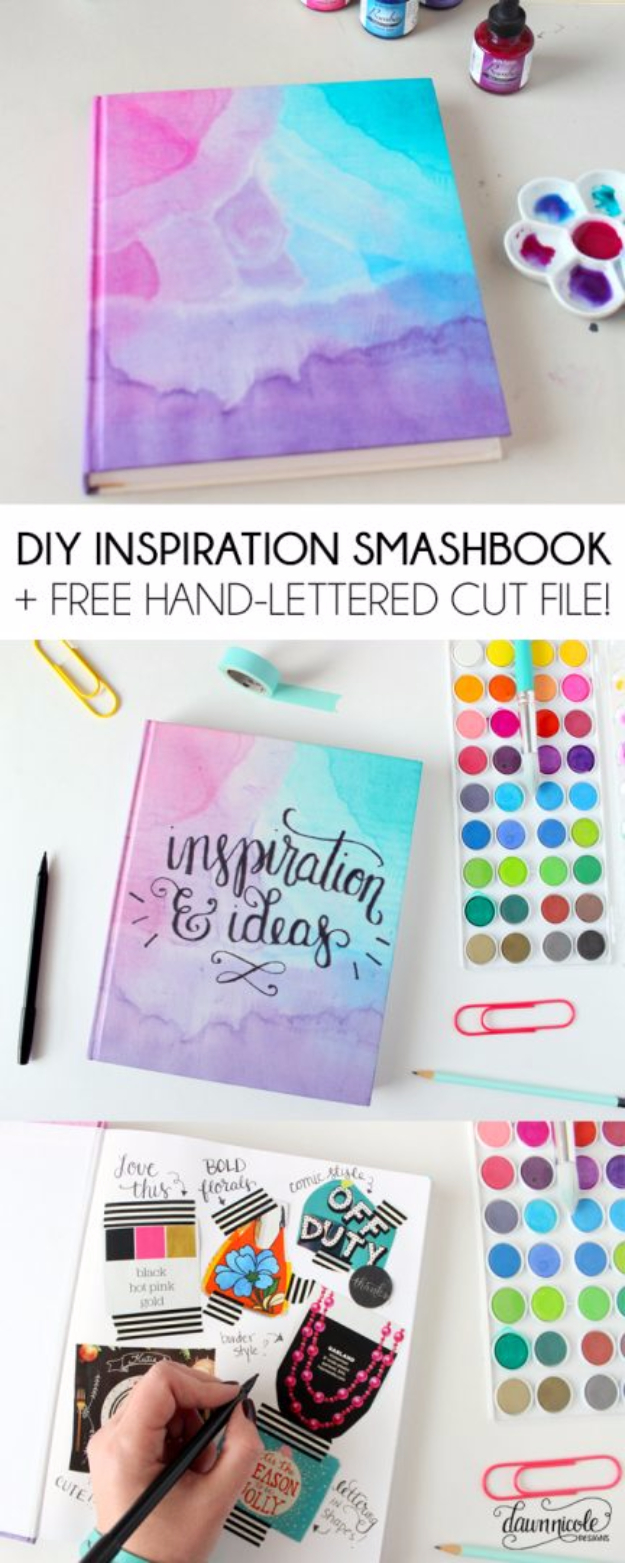 Best DIY Gifts for Girls - DIY Inspiration Smashbook - Cute Crafts and DIY Projects that Make Cool DYI Gift Ideas for Young and Older Girls, Teens and Teenagers - Awesome Room and Home Decor for Bedroom, Fashion, Jewelry and Hair Accessories - Cheap Craft Projects To Make For a Girl -DIY Christmas Presents for Tweens #diygifts #girlsgifts