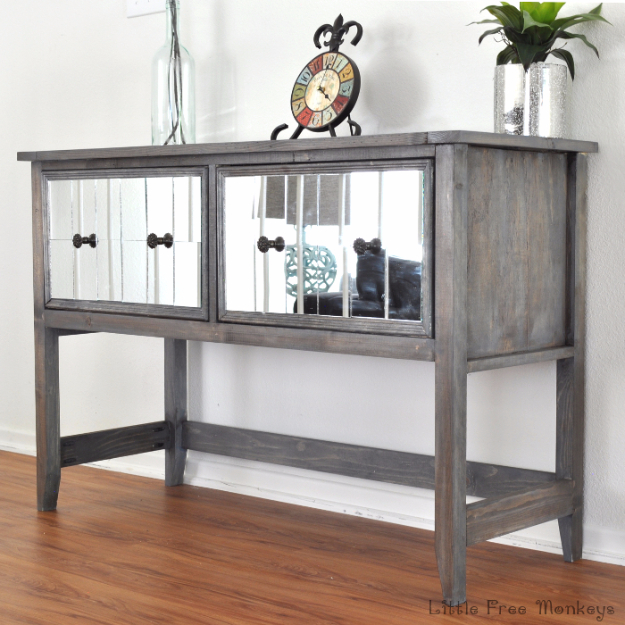 DIY Mirrors - DIY Mirrored Console Table - Best Do It Yourself Mirror Projects and Cool Crafts Using Mirrors - Home Decor, Bedroom Decor and Bath Ideas - Step By Step Tutorials With Instructions