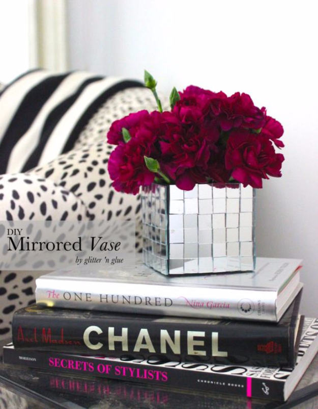 DIY Mirrors - DIY Mirrored Vase - Best Do It Yourself Mirror Projects and Cool Crafts Using Mirrors - Home Decor, Bedroom Decor and Bath Ideas - Step By Step Tutorials With Instructions