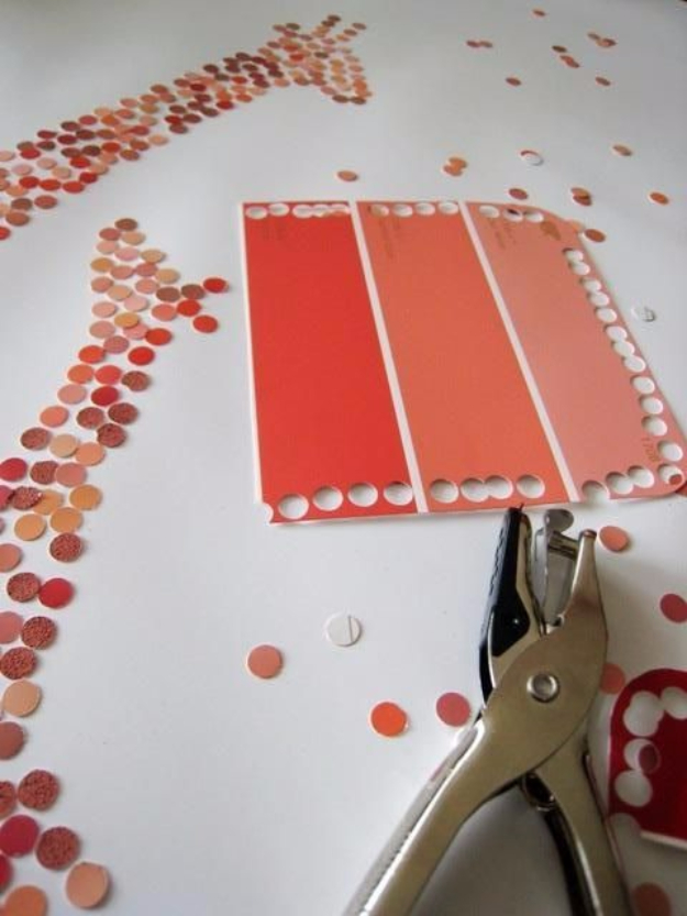 DIY Projects Made With Paint Chips - DIY Paint Chip Art - Best Creative Crafts, Easy DYI Projects You Can Make With Paint Chips - Cool Paint Chip Crafts and Project Tutorials - Crafty DIY Home Decor Ideas That Make Awesome DIY Gifts and Christmas Presents for Friends and Family #diy #crafts #paintchip #cheapcrafts