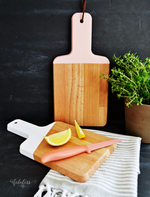 Best IKEA Hacks and DIY Hack Ideas for Furniture Projects and Home Decor from IKEA - DIY Painted Cutting Boards - Creative IKEA Hack Tutorials for DIY Platform Bed, Desk, Vanity, Dresser, Coffee Table, Storage and Kitchen, Bedroom and Bathroom Decor #ikeahacks #diy