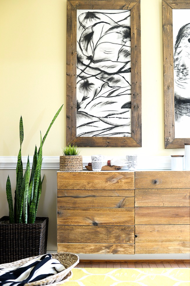 Best IKEA Hacks and DIY Hack Ideas for Furniture Projects and Home Decor from IKEA - DIY Reclaimed Wood Buffet IKEA Hack - Creative IKEA Hack Tutorials for DIY Platform Bed, Desk, Vanity, Dresser, Coffee Table, Storage and Kitchen, Bedroom and Bathroom Decor #ikeahacks #diy