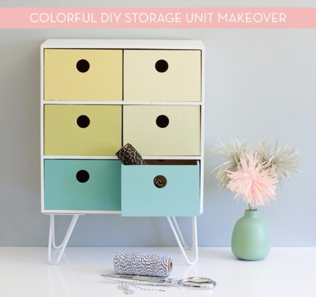 Best IKEA Hacks and DIY Hack Ideas for Furniture Projects and Home Decor from IKEA - DIY Retro-Inspired IKEA Storage Hack - Creative IKEA Hack Tutorials for DIY Platform Bed, Desk, Vanity, Dresser, Coffee Table, Storage and Kitchen, Bedroom and Bathroom Decor #ikeahacks #diy