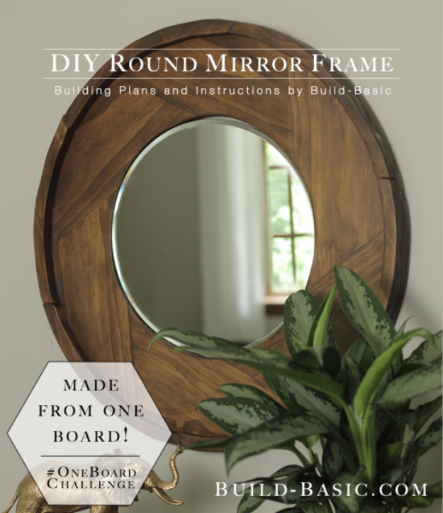 DIY Mirrors - DIY Round Mirror Frame - Best Do It Yourself Mirror Projects and Cool Crafts Using Mirrors - Home Decor, Bedroom Decor and Bath Ideas - Step By Step Tutorials With Instructions http://diyjoy.com/diy-mirrors