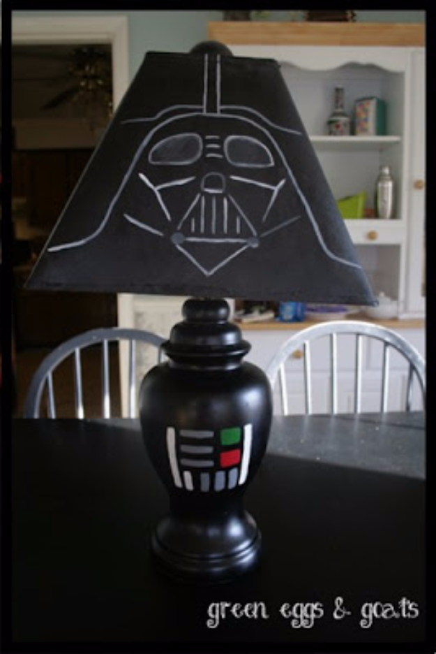 DIY Room Decor for Boys - DIY Star Wars Decor - Best Creative Bedroom Ideas for Boy Rooms - Wall Art, Lamps, Rugs, Lamps, Beds, Bedding and Furniture You Can Make for Teens, Tweens and Teenagers #diy #homedecor #boys