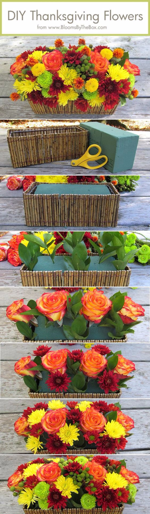 DIY Thanksgiving Decor Ideas - DIY Thanksgiving Flowers - Fall Projects and Crafts for Thanksgiving Dinner Centerpieces, Vases, Arrangements With Leaves and Pumpkins - Easy and Cheap Crafts to Make for Home Decor #diy