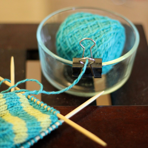 DIY Crafting Hacks - DIY Yarn Bowl - Easy Crafting Ideas for Quick DIY Projects - Awesome Creative, Crafty Ways for Dollar Store, Organizing, Yarn, Scissors and Pom Poms