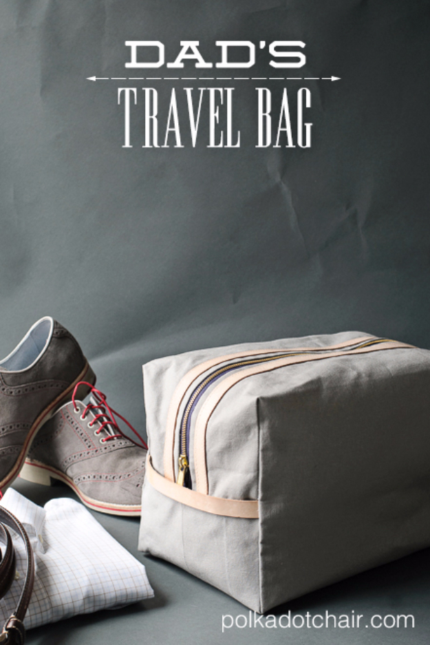 DIY Gifts for Dad - Dad's Travel Bag - Best Craft Projects and Gift Ideas You Can Make for Your Father - Last Minute Presents for Birthday and Christmas - Creative Photo Projects, Gift Card Holders, Gift Baskets and Thoughtful Things to Give Fathers and