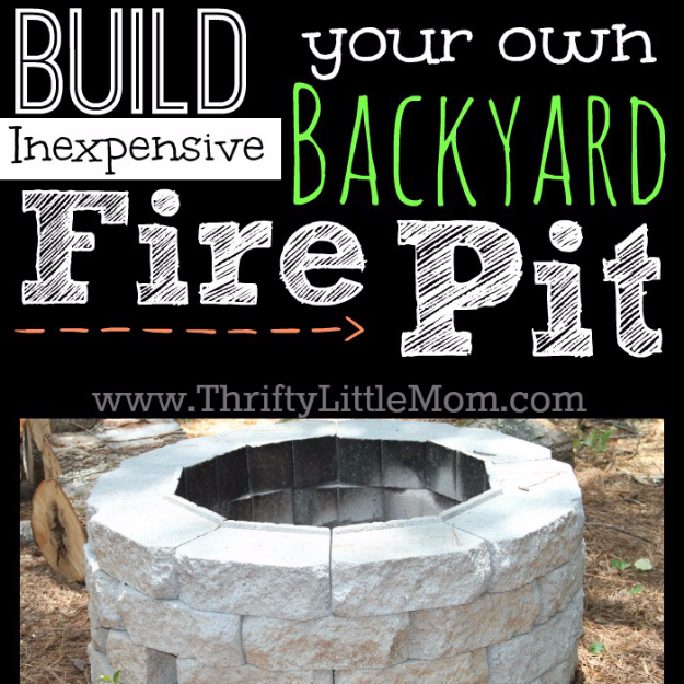 DIY Fireplace Ideas - Easy DIY Inexpensive Firepit - Do It Yourself Firepit Projects and Fireplaces for Your Yard, Patio, Porch and Home. Outdoor Fire Pit Tutorials for Backyard with Easy Step by Step Tutorials - Cool DIY Projects for Men and Women http://diyjoy.com/diy-fireplace-ideas