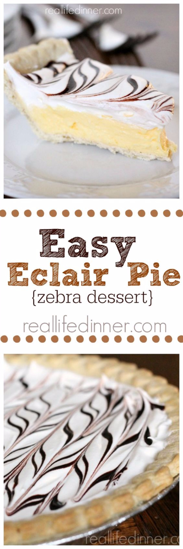 Best Pie Recipes - Easy Eclair Pie - Easy Pie Recipes From Scratch for Pecan, Apple, Banana, Pumpkin, Fruit, Peach and Chocolate Pies. Yummy Graham Cracker Crusts and Homemade Meringue #recipes #dessert