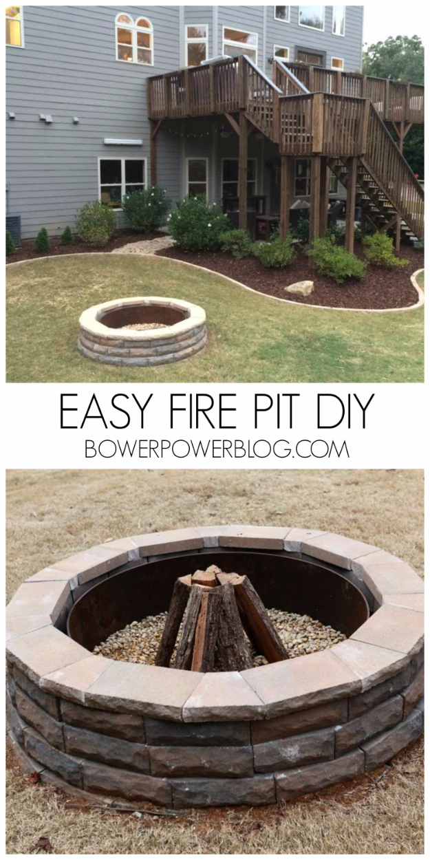 31 diy outdoor fireplace and firepit ideas for Do it yourself fire pit designs