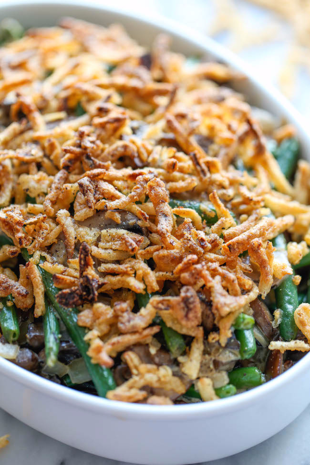 Easy Thanksgiving Recipes - Easy Green Bean Casserole - Best Simple and Quick Recipe Ideas for Thanksgiving Dinner. Cranberries, Turkey, Gravy, Sauces, Sides, Vegetables, Dips and Desserts - DIY Cooking Tutorials With Step by Step Instructions - Ideas for A Crowd, Parties and Last Minute Recipes http://diyjoy.com/easy-thanksgiving-recipes