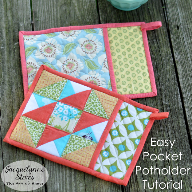 Best Quilting Projects for DIY Gifts - Easy Pocket Potholder - Things You Can Quilt and Sew for Friends, Family and Christmas Gift Ideas - Easy and Quick Quilting Patterns for Presents To Give At Holidays, Birthdays and Baby Gifts. Step by Step Tutorials and Instructions http://diyjoy.com/quilting-projects-diy-gifts