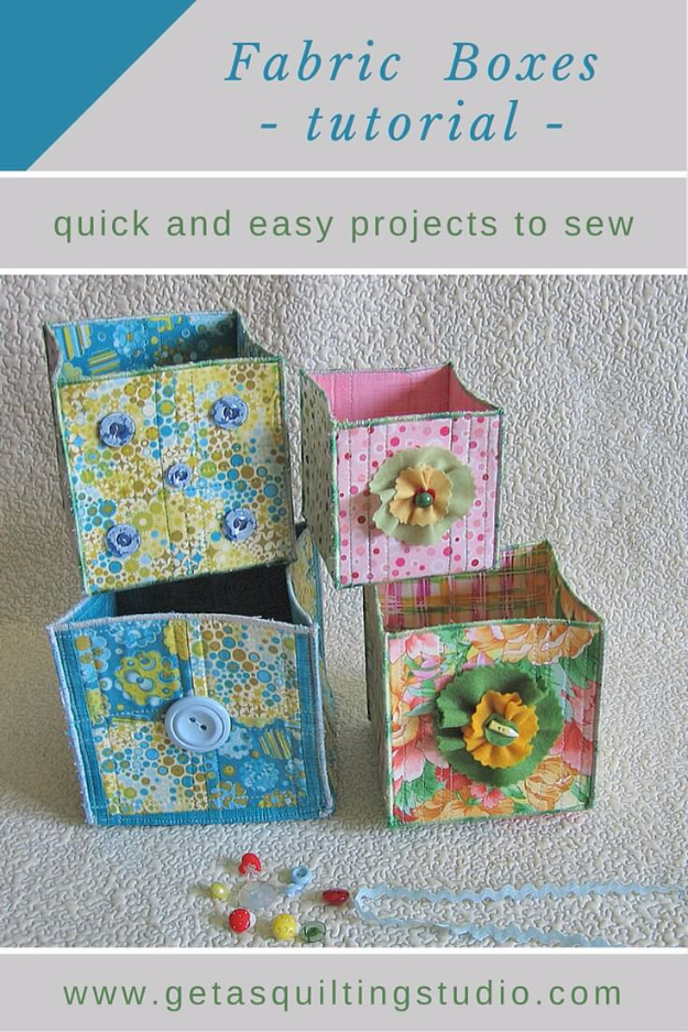 Best Quilting Projects for DIY Gifts - Fabric Boxes - Things You Can Quilt and Sew for Friends, Family and Christmas Gift Ideas - Easy and Quick Quilting Patterns for Presents To Give At Holidays, Birthdays and Baby Gifts. Step by Step Tutorials and Instructions