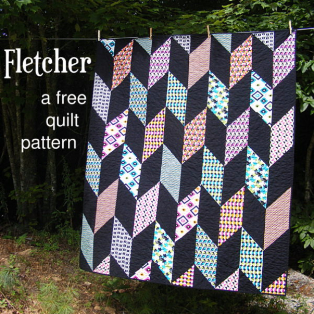 Best Quilting Projects for DIY Gifts - Fletcher Chevron Quilt - Things You Can Quilt and Sew for Friends, Family and Christmas Gift Ideas - Easy and Quick Quilting Patterns for Presents To Give At Holidays, Birthdays and Baby Gifts. Step by Step Tutorials and Instructions