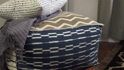 "He Makes An Awesome ""Pouf"" Ottoman For Foot Comfort When He's Watching TV 