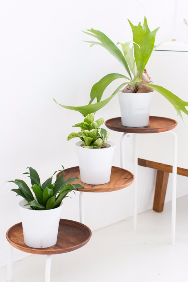Best IKEA Hacks and DIY Hack Ideas for Furniture Projects and Home Decor from IKEA - Flower Stand IKEA Hack - Creative IKEA Hack Tutorials for DIY Platform Bed, Desk, Vanity, Dresser, Coffee Table, Storage and Kitchen, Bedroom and Bathroom Decor #ikeahacks #diy
