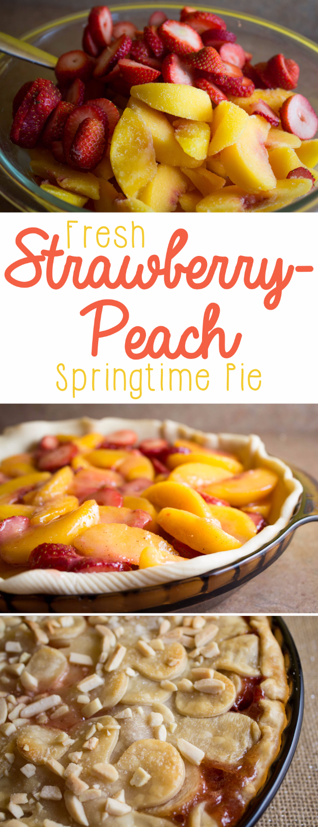 Best Pie Recipes - Fresh Strawberry Peach Pie - Easy Pie Recipes From Scratch for Pecan, Apple, Banana, Pumpkin, Fruit, Peach and Chocolate Pies. Yummy Graham Cracker Crusts and Homemade Meringue #recipes #dessert