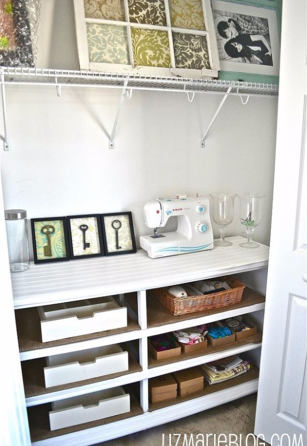 DIY Crafting Hacks - From Dresser To Shelves - Easy Crafting Ideas for Quick DIY Projects - Awesome Creative, Crafty Ways for Dollar Store, Organizing, Yarn, Scissors and Pom Poms