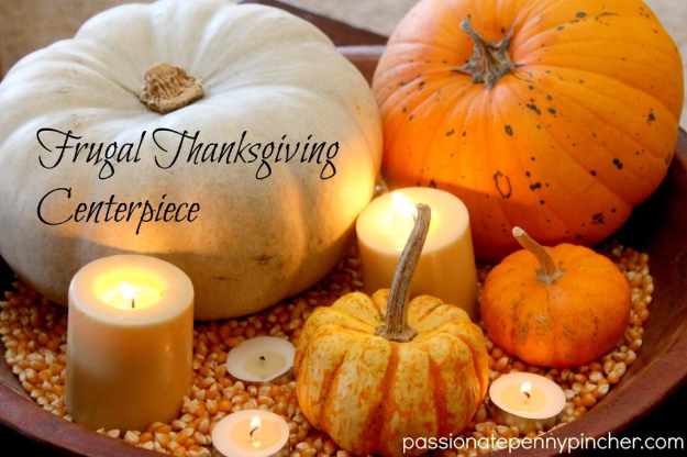 DIY Thanksgiving Decor Ideas - Frugal Thanksgiving Centerpiece - Fall Projects and Crafts for Thanksgiving Dinner Centerpieces, Vases, Arrangements With Leaves and Pumpkins - Easy and Cheap Crafts to Make for Home Decor #diy