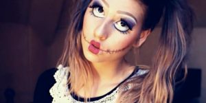 Watch How She Applies This Makeup To Be A Real Live Doll For Halloween (Brilliant!)