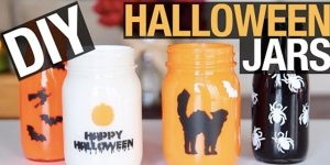 DIY Halloween Mason Jars Hold Candy Or Tea Lights