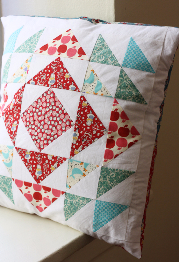 Best Quilting Projects for DIY Gifts - Herringbone Quilted Pillow - Things You Can Quilt and Sew for Friends, Family and Christmas Gift Ideas - Easy and Quick Quilting Patterns for Presents To Give At Holidays, Birthdays and Baby Gifts. Step by Step Tutorials and Instructions