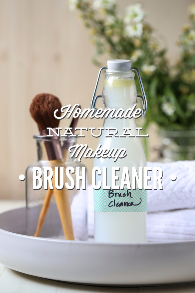 DIY Beauty Hacks - Homemade Natural Make Up Brush Cleaner - Cool Tips for Makeup, Hair and Nails - Step by Step Tutorials for Fixing Broken Makeup, Eye Shadow, Mascara, Foundation - Quick Beauty Ideas for Best Looks in A Hurry #beautyhacks #makeup