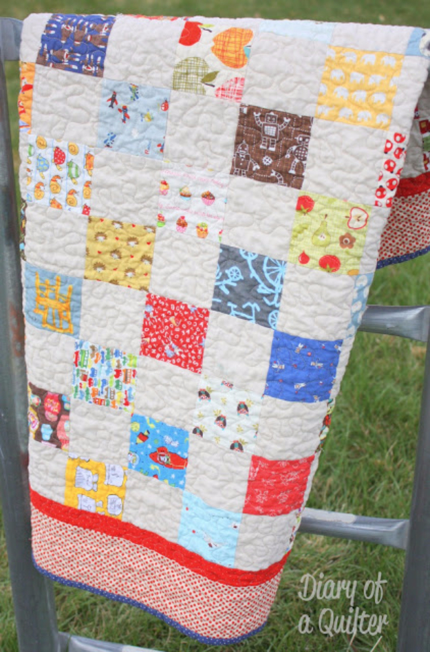 Best Quilting Projects for DIY Gifts - I Spy Baby Quilt - Things You Can Quilt and Sew for Friends, Family and Christmas Gift Ideas - Easy and Quick Quilting Patterns for Presents To Give At Holidays, Birthdays and Baby Gifts. Step by Step Tutorials and Instructions