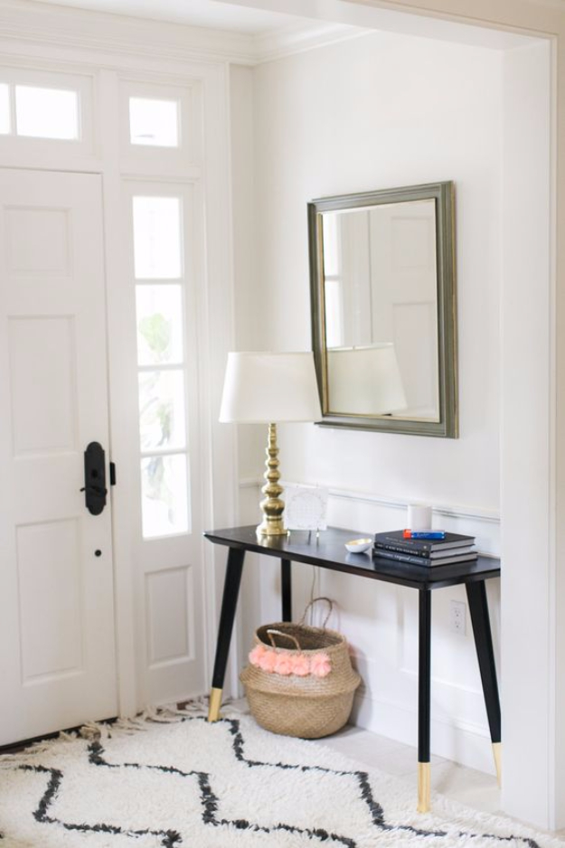 Best IKEA Hacks and DIY Hack Ideas for Furniture Projects and Home Decor from IKEA - IKEA Hack DIY Entry Table - Creative IKEA Hack Tutorials for DIY Platform Bed, Desk, Vanity, Dresser, Coffee Table, Storage and Kitchen, Bedroom and Bathroom Decor http://diyjoy.com/best-ikea-hacks