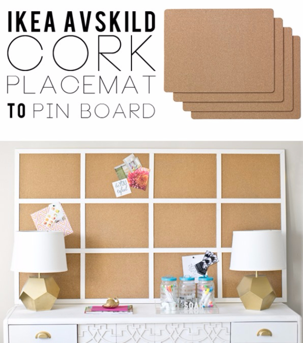 Best IKEA Hacks and DIY Hack Ideas for Furniture Projects and Home Decor from IKEA - IKEA Hack Framed Cork Board - Creative IKEA Hack Tutorials for DIY Platform Bed, Desk, Vanity, Dresser, Coffee Table, Storage and Kitchen, Bedroom and Bathroom Decor #ikeahacks #diy