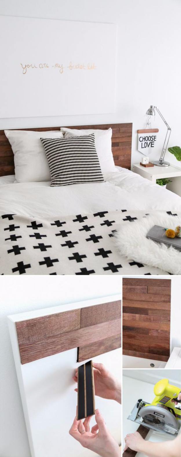 Best IKEA Hacks and DIY Hack Ideas for Furniture Projects and Home Decor from IKEA - IKEA Hack Stikwood Headboard - Creative IKEA Hack Tutorials for DIY Platform Bed, Desk, Vanity, Dresser, Coffee Table, Storage and Kitchen, Bedroom and Bathroom Decor #ikeahacks #diy