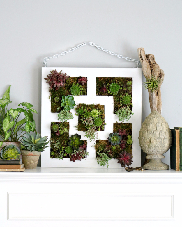 Best IKEA Hacks and DIY Hack Ideas for Furniture Projects and Home Decor from IKEA - IKEA Lack Table hack To Succulent Vertical Garden - Creative IKEA Hack Tutorials for DIY Platform Bed, Desk, Vanity, Dresser, Coffee Table, Storage and Kitchen, Bedroom and Bathroom Decor #ikeahacks #diy