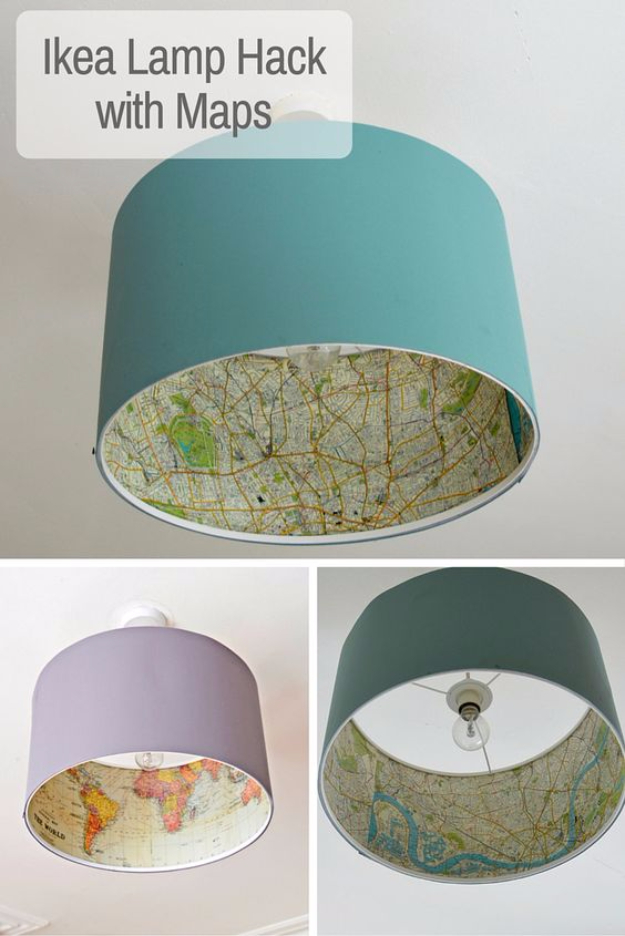 Best IKEA Hacks and DIY Hack Ideas for Furniture Projects and Home Decor from IKEA - IKEA Lamp Hack - Creative IKEA Hack Tutorials for DIY Platform Bed, Desk, Vanity, Dresser, Coffee Table, Storage and Kitchen, Bedroom and Bathroom Decor http://diyjoy.com/best-ikea-hacks