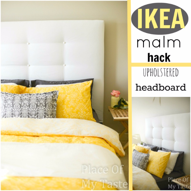 Best IKEA Hacks and DIY Hack Ideas for Furniture Projects and Home Decor from IKEA - IKEA Malm Hack Upholstered Headboard - Creative IKEA Hack Tutorials for DIY Platform Bed, Desk, Vanity, Dresser, Coffee Table, Storage and Kitchen, Bedroom and Bathroom Decor #ikeahacks #diy