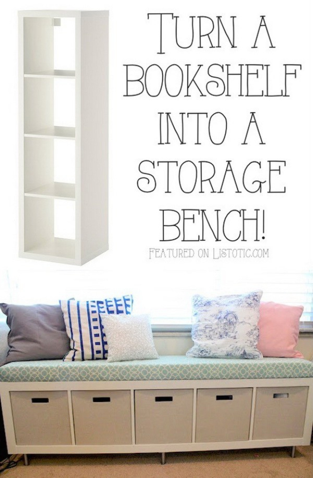 Best IKEA Hacks and DIY Hack Ideas for Furniture Projects and Home Decor from IKEA - IKEA No Sew Window Bench - Creative IKEA Hack Tutorials for DIY Platform Bed, Desk, Vanity, Dresser, Coffee Table, Storage and Kitchen, Bedroom and Bathroom Decor #ikeahacks #diy