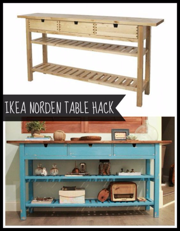 Best IKEA Hacks and DIY Hack Ideas for Furniture Projects and Home Decor from IKEA - IKEA Norden Table Hack - Creative IKEA Hack Tutorials for DIY Platform Bed, Desk, Vanity, Dresser, Coffee Table, Storage and Kitchen, Bedroom and Bathroom Decor #ikeahacks #diy
