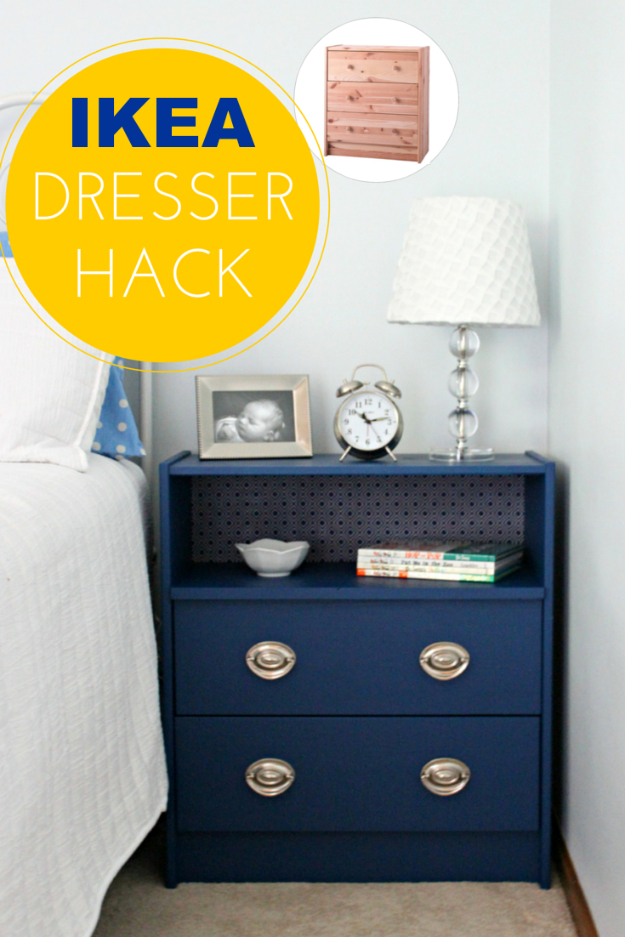 Best IKEA Hacks and DIY Hack Ideas for Furniture Projects and Home Decor from IKEA - IKEA Rast Dresser Hack - Creative IKEA Hack Tutorials for DIY Platform Bed, Desk, Vanity, Dresser, Coffee Table, Storage and Kitchen, Bedroom and Bathroom Decor #ikeahacks #diy