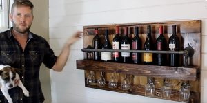 He Builds A Fabulous Industrial Wine Rack That Is So Chic And Classy!