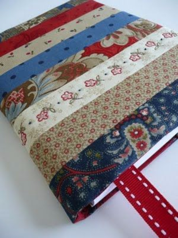 Best Quilting Projects for DIY Gifts - DIY Journal Cover - Things You Can Quilt and Sew for Friends, Family and Christmas Gift Ideas - Easy and Quick Quilting Patterns for Presents To Give At Holidays, Birthdays and Baby Gifts. Step by Step Tutorials and Instructions