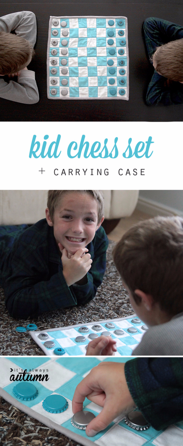 Best Quilting Projects for DIY Gifts - Kid Chess Set Carrying Case - Things You Can Quilt and Sew for Friends, Family and Christmas Gift Ideas - Easy and Quick Quilting Patterns for Presents To Give At Holidays, Birthdays and Baby Gifts. Step by Step Tutorials and Instructions