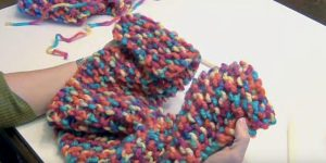 She Makes This Colorful Knitted Scarf That Would Brighten Up Any Outfit!