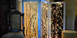 Watch How He Creates This Fabulous Twinkling Branches Room Divider (Sensational!)