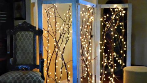 Watch How He Creates This Fabulous Twinkling Branches Room Divider (Sensational!) | DIY Joy Projects and Crafts Ideas