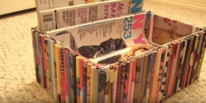 She Recycles Old Magazines And Makes This Remarkably Stunning Container!