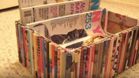 She Recycles Old Magazines And Makes This Remarkably Stunning Container! | DIY Joy Projects and Crafts Ideas